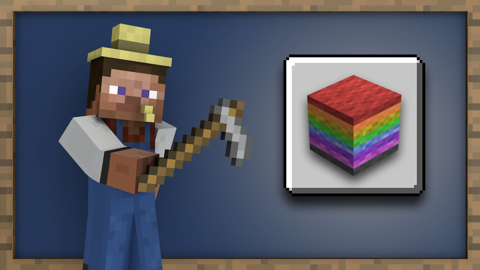 Rainbow Collection achievement for Minecraft on Nintendo Switch