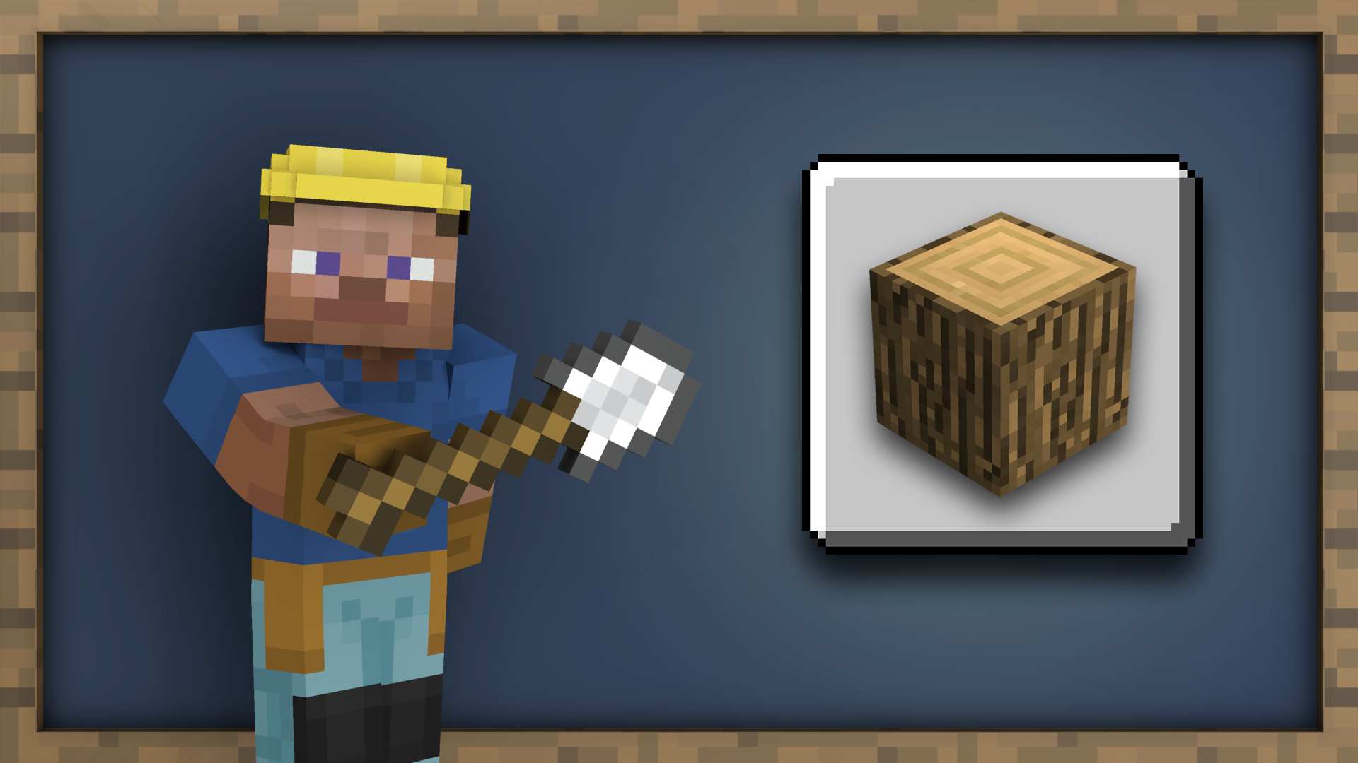 Getting Wood achievement for Minecraft on Nintendo Switch