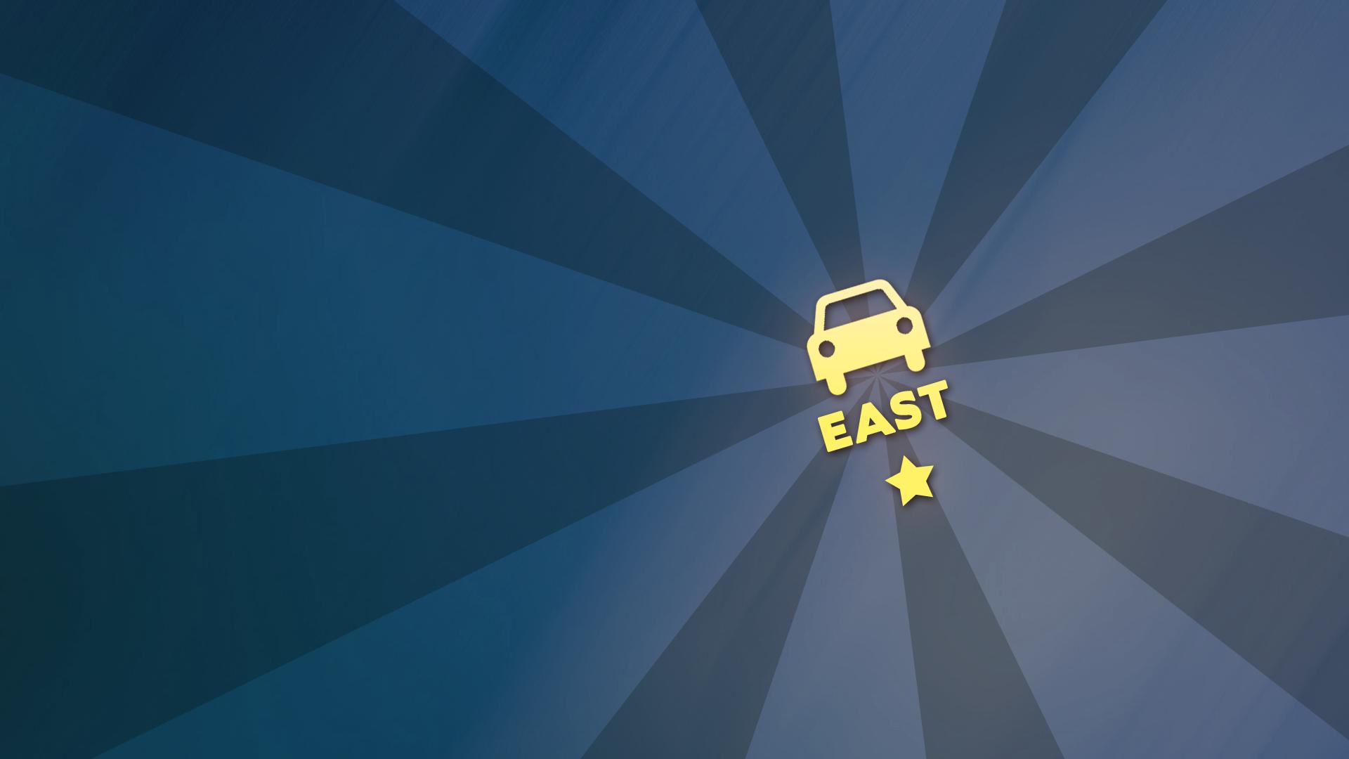 Car insignia 'East'