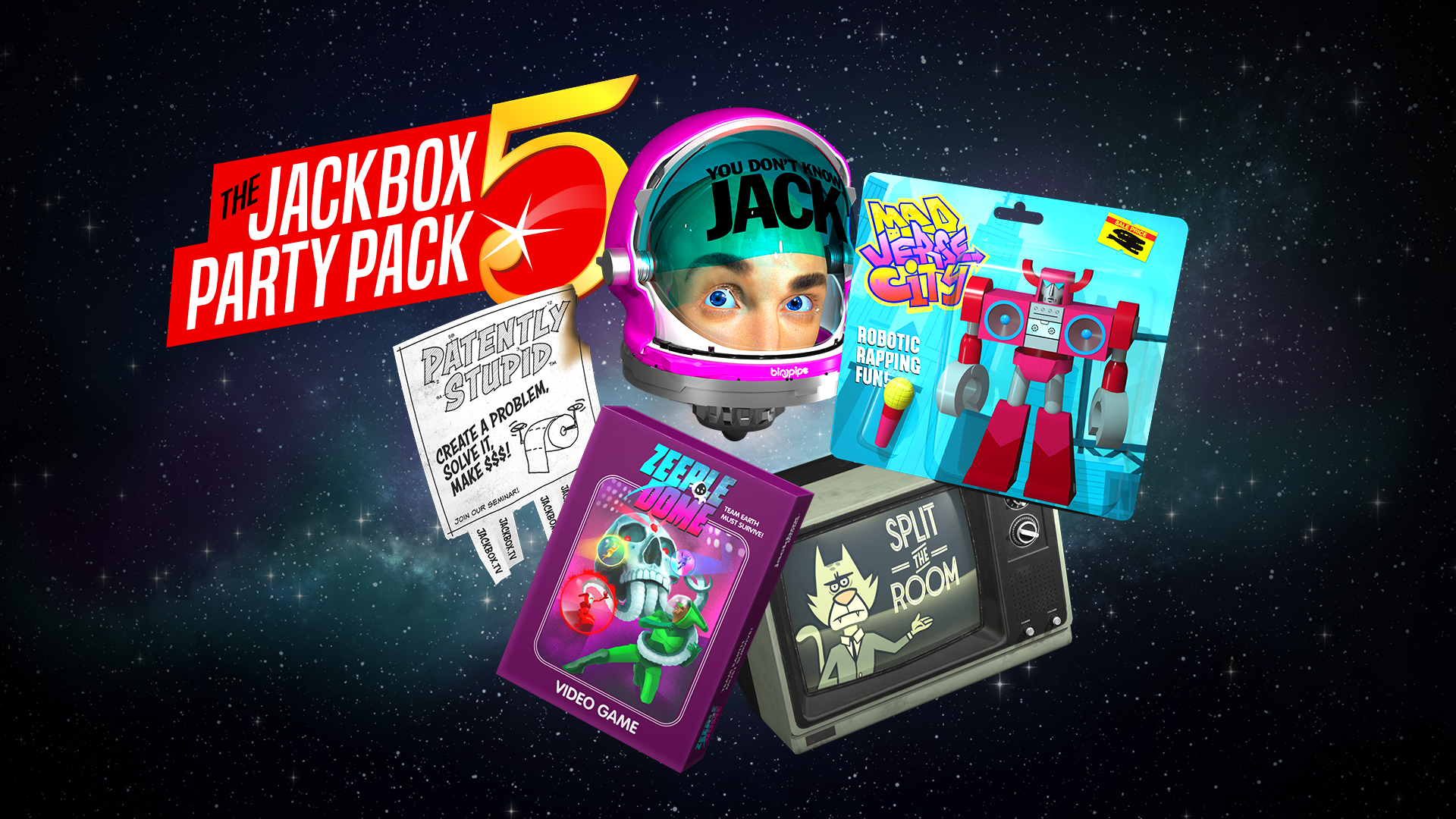 Zeeple Dome: Tossed in Space achievement for The Jackbox Party Pack 5 on Xbox One